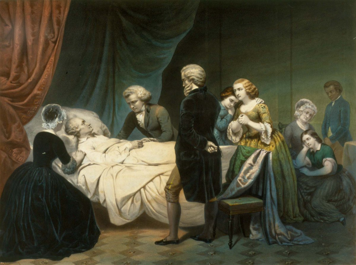 Today in 1799, George Washington passes away, surrounded by those close to him. #RIPGW #MountVernon #OTD https://t.co/Vd4rKOUhxw