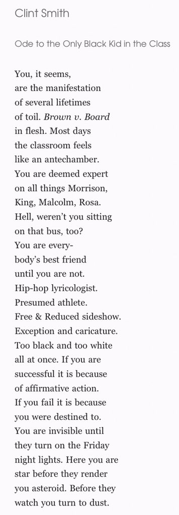 Clint Smith On Twitter Ive Got A New Poem Ode To The