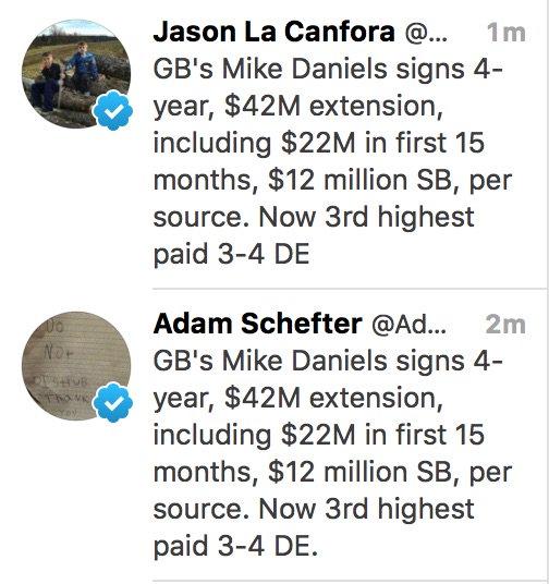 @AdamSchefter @JasonLaCanfora Are you two sharing tweets now?! https://t.co/C7XcqHFbUN