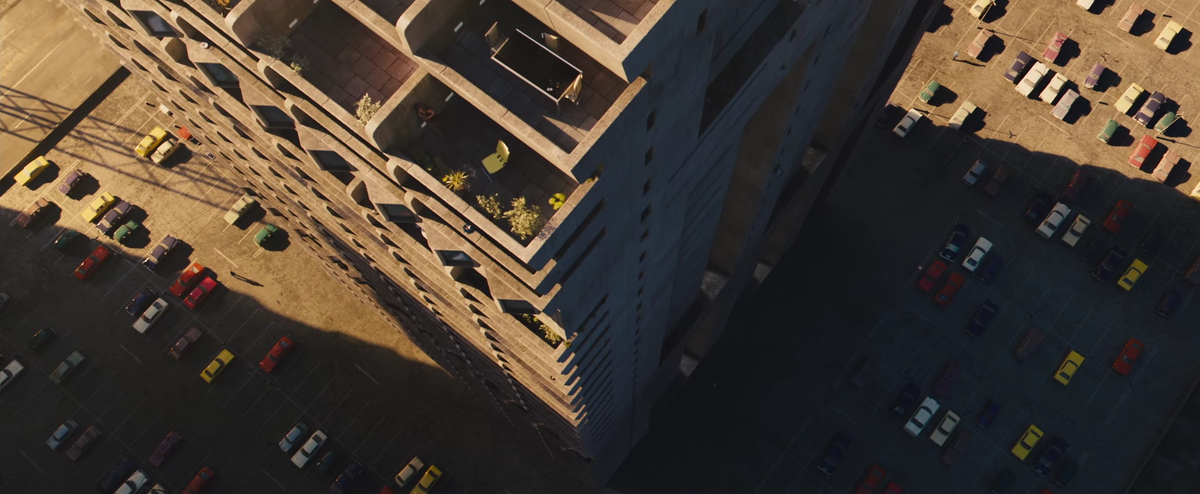 The finally released a trailer for High Rise and the architecture is super weird. Pix here: https://t.co/nv4Q3HuL9z https://t.co/Vy3tcKl5Va