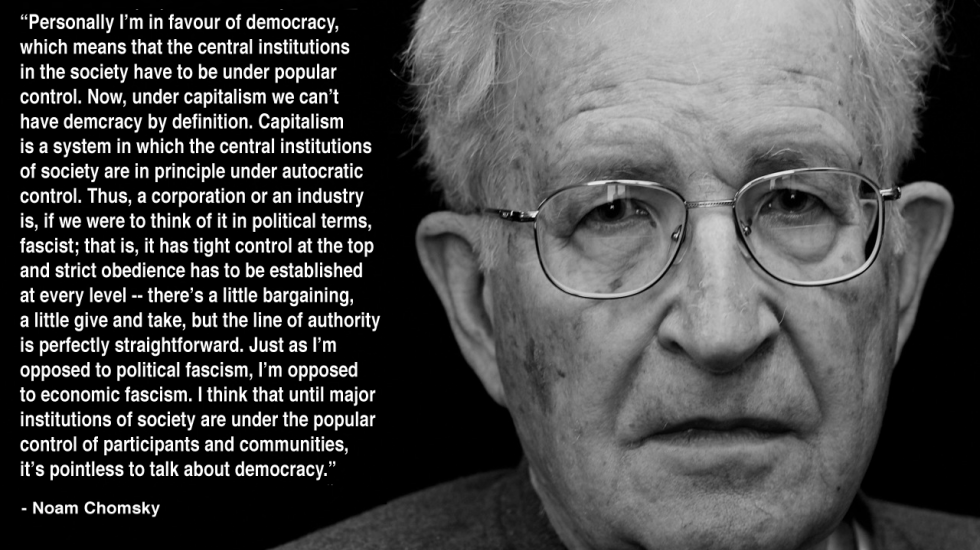 Noam is brilliant.. Democracy is meant to be messy. Listening to ppl you don't necessary like, for the common good. https://t.co/8eqpJ48qnp