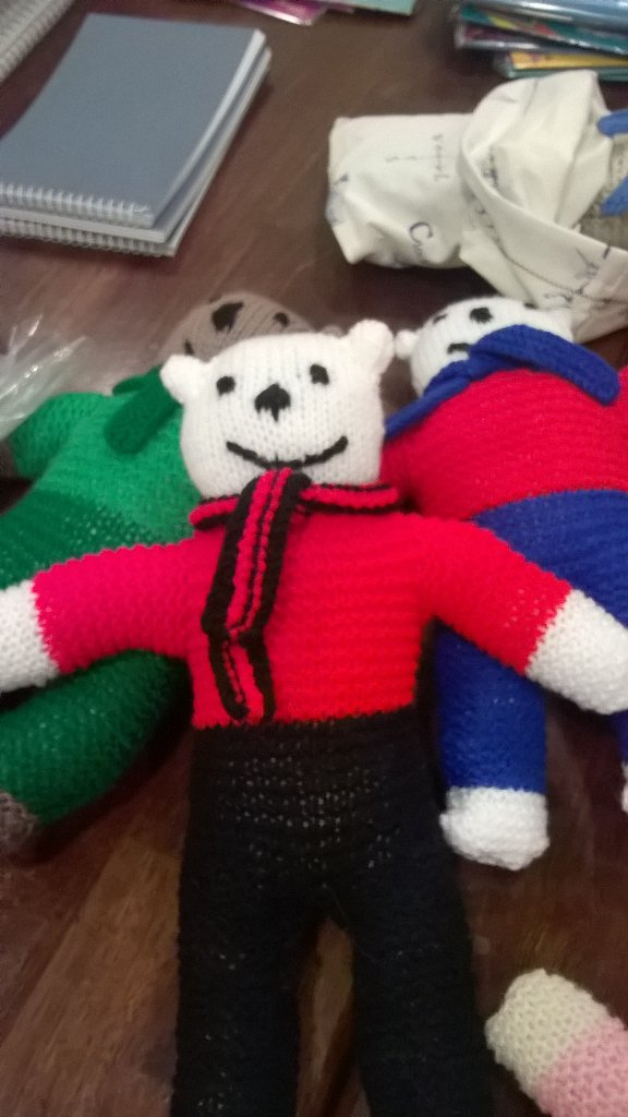 The Handknitted Trauma Teddies Comforting Child Refugees Society