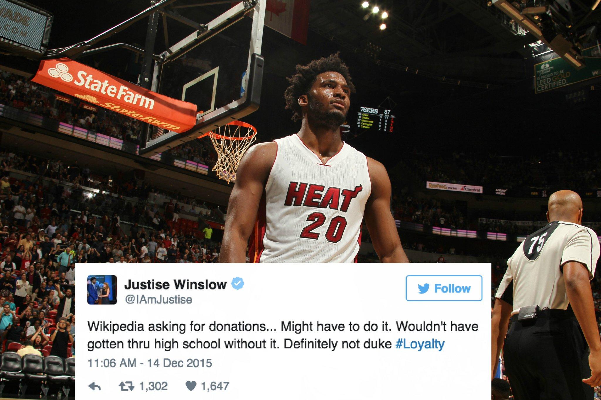 Bleacher Report On Twitter Heat Rookie Justise Winslow Jokes That