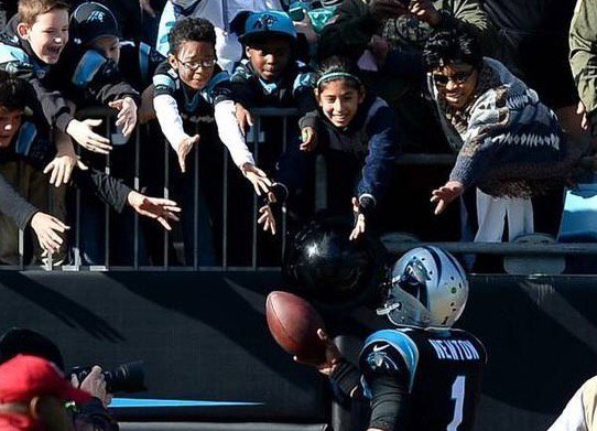 No, Cam Newton has not been fined $253,552 for football giveaways, despite 18,000 retweets. https://t.co/Yf0p5HNsYn https://t.co/q4NBQ3WYCj