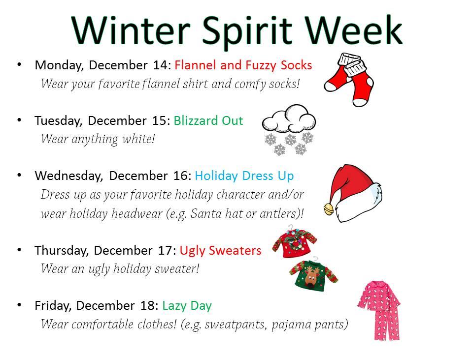 Calendar Dress Up Ideas : The gallery for gt school spirit week themes