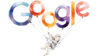 Google いわさきちひろさん生誕97周年で風船とまい上がる少年のロゴに! https://t.co/UMAjYDNvce https://t.co/jTBn8SWTsu