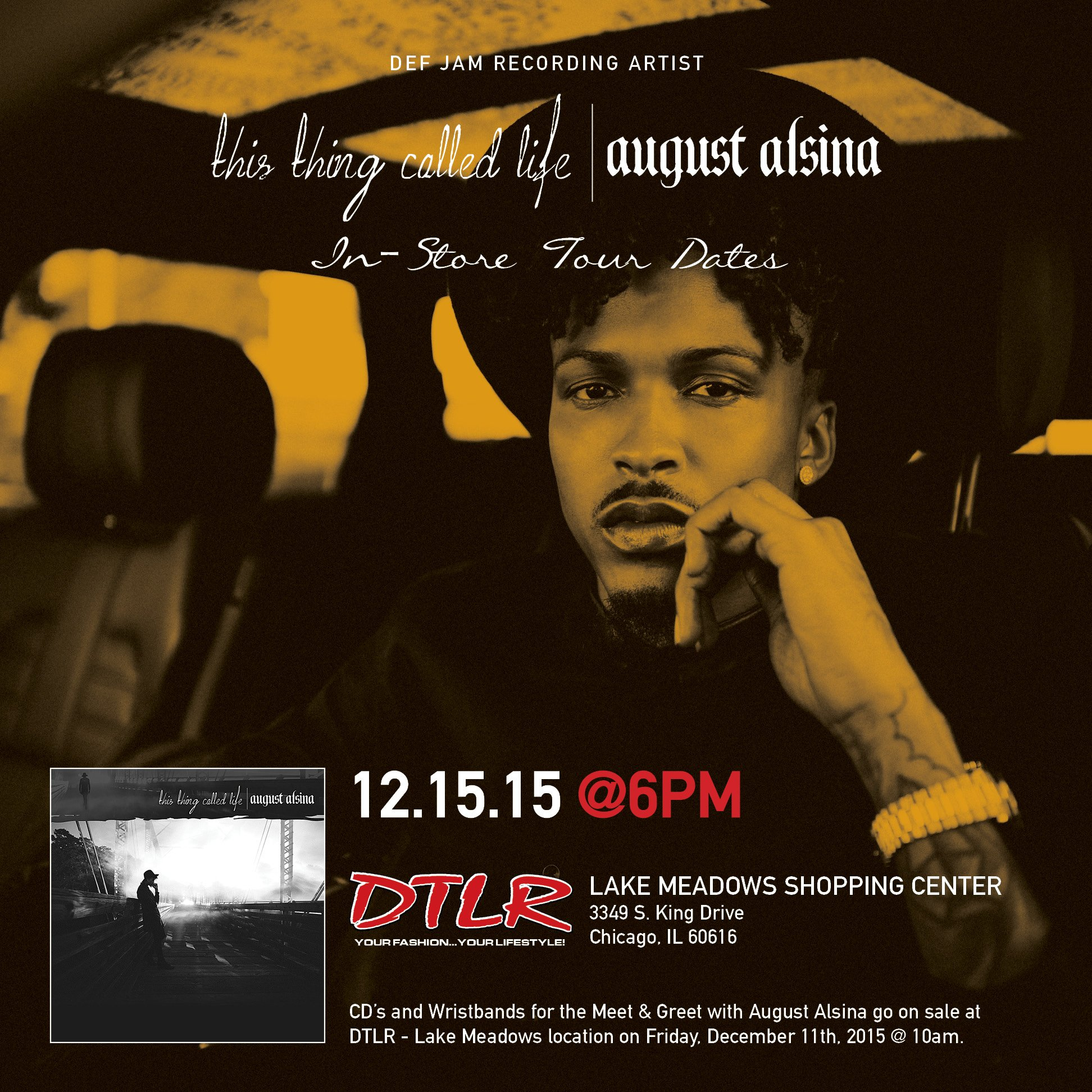 August Alsina On Twitter Chicago Tomorrow 1215 In Storemeet