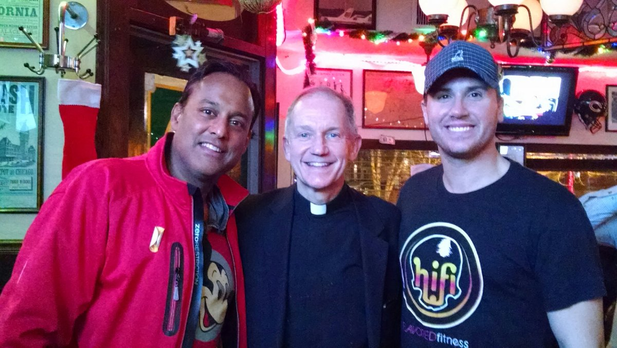 Bishop Paprocki On Twitter Thomas John With Hockey Buddies Ravi Baichwal And Ryan Chiaverini Of ABC 7 WLS TV Chicago