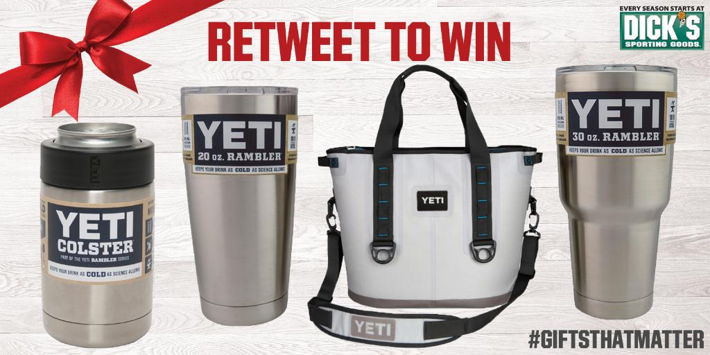 Retweet for a chance to win a Yeti prize pack. #Sweepstakes #GiftThatMatters https://t.co/HNqjAssylz