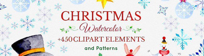 Watercolor Christmas Designer's Toolkit of 450 Elements - only $15! *ad https://t.co/NJH1bTNYdf https://t.co/82gER1I3oN