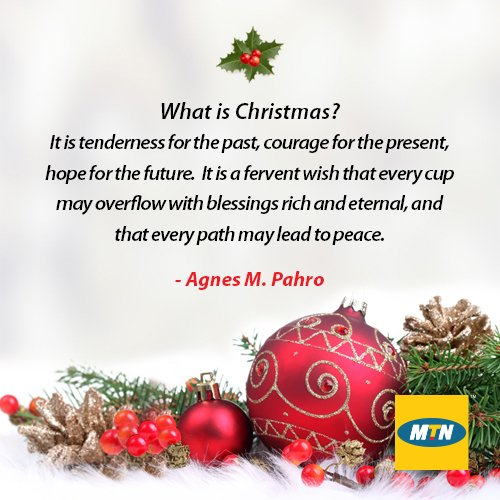 mtn ghana on twitter what does christmas mean to you morningquote httpstcojqj7clt3gd