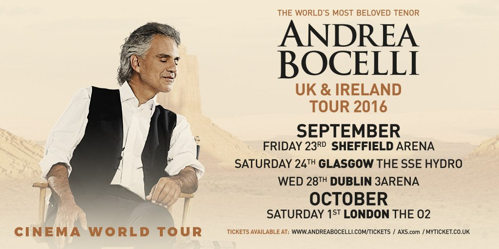 andrea bocelli on twitter andrea bocelli returns to the uk ireland in sept oct 16 with the. Black Bedroom Furniture Sets. Home Design Ideas