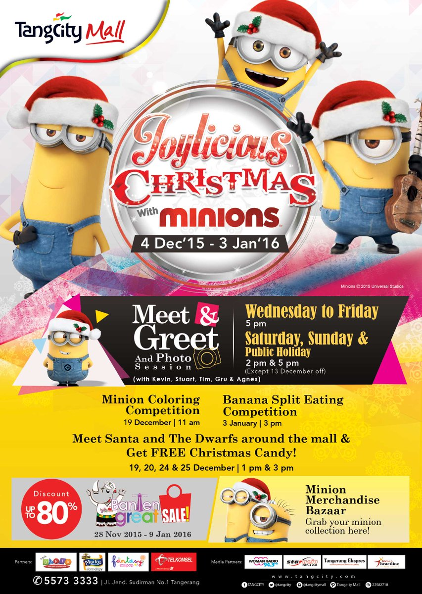 Tangcity Mall On Twitter MINION COLORING COMPETITION 19Dec 11am Main Atrium Info Registration Betha