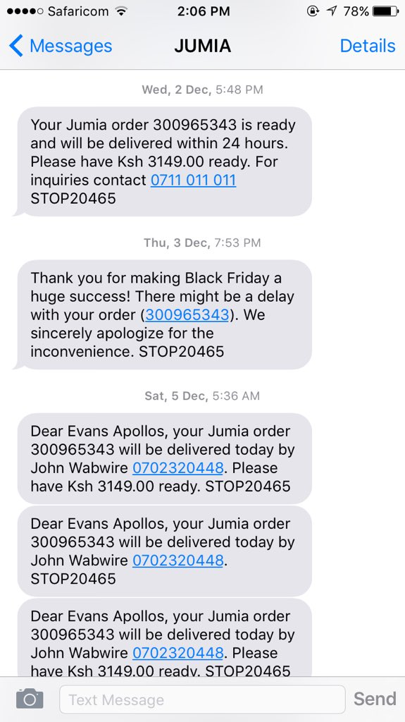 @JumiaKenya so 2wks now and still no delivery?!?! https://t.co/SduDpGcU7r