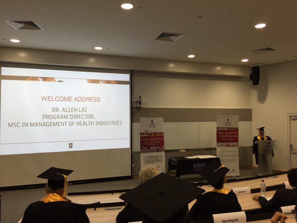 Dr Allen LAI talking at the graduation @ESSEC_AP https://t.co/JkGzhILUPy