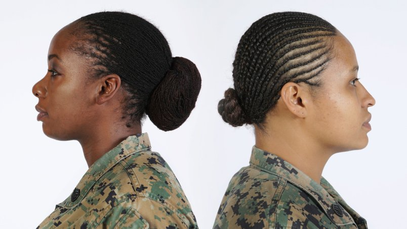 Female Marines in uniform can now wear locks and twists in their hair: https://t.co/SG19PSmmwU @USMC https://t.co/yAR5CfEbzR