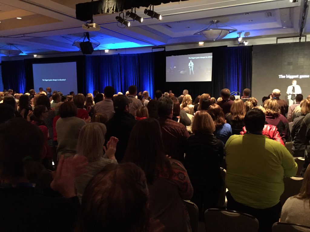 Standing ovation for @gcouros keynote presentation! #ties15 #inspiration https://t.co/jBn2dI7IVP