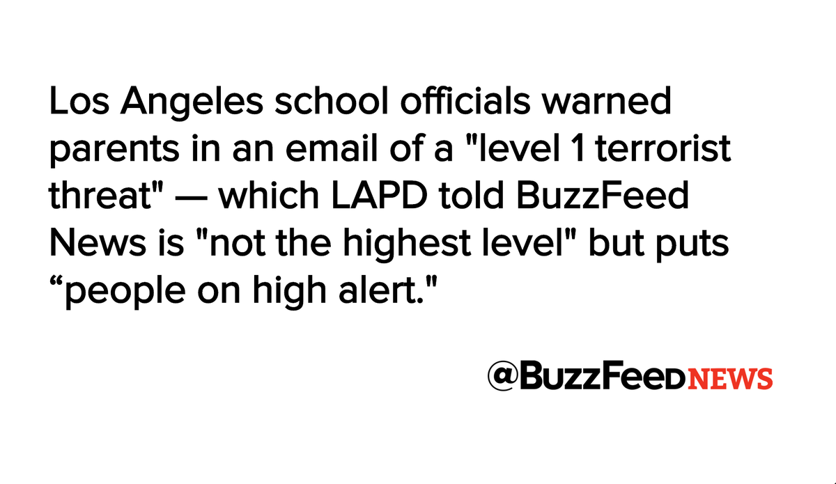Updates on Los Angeles Public School Threat https://t.co/4Peb22ndsz https://t.co/RZ4qkSusvj