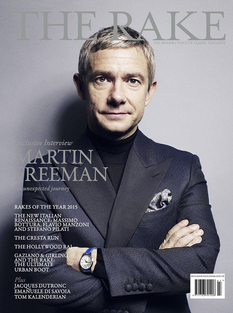 Issue 43 is now on newsstands featuring a very suave #MartinFreeman shot at @HotelCafeRoyal #Rakish https://t.co/ylJnQvWB5o