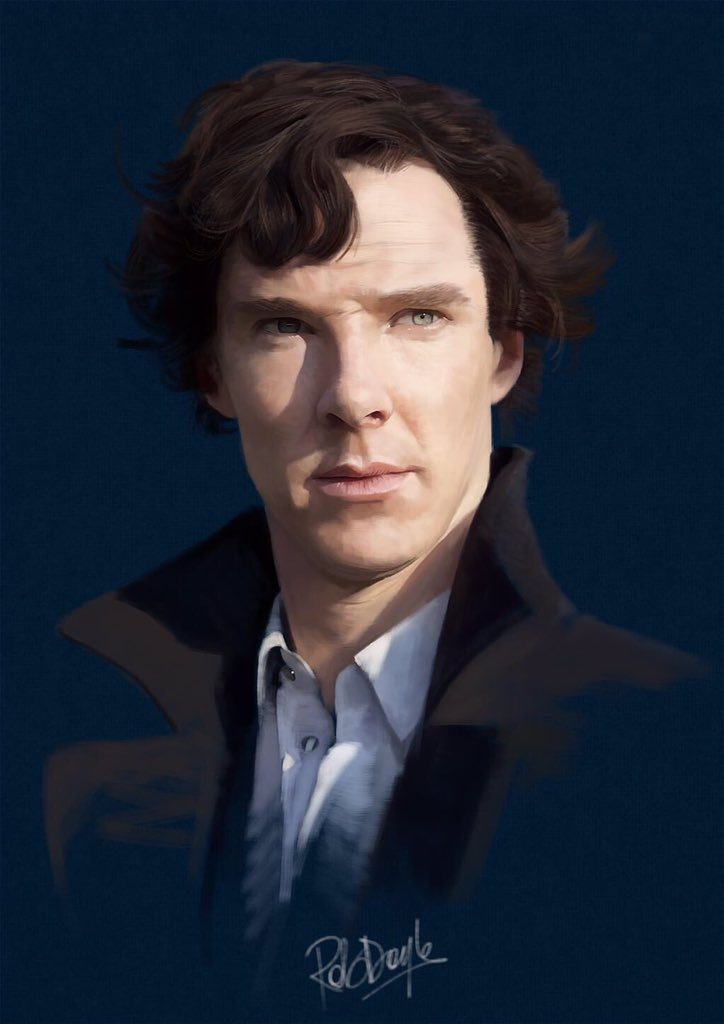 Hey @Markgatiss, thought you might appreciate my #Sherlock painting... https://t.co/BlSVTtW45O