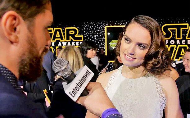 L'attrice di Star Wars: Il risveglio della forza Daisy Ridley