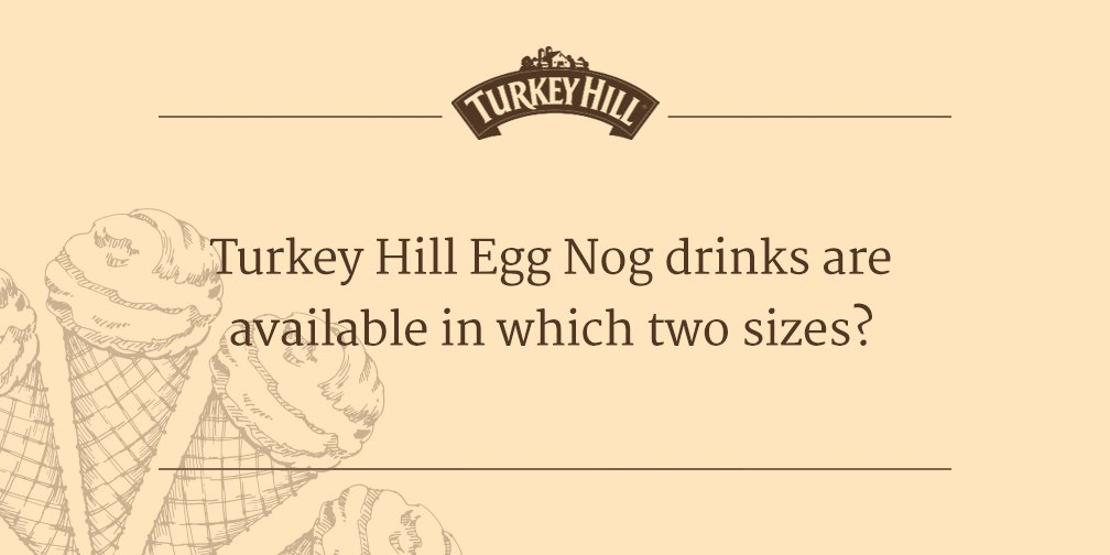 It's time for some trivia! Answer by 5 to #win some FREE Turkey Hill Ice Cream. #THTrivia https://t.co/iNnBGGnJY3