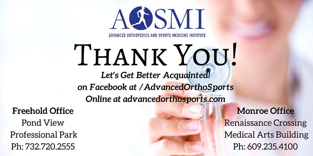 Advanced Orthopedics On Twitter Thanks For Following