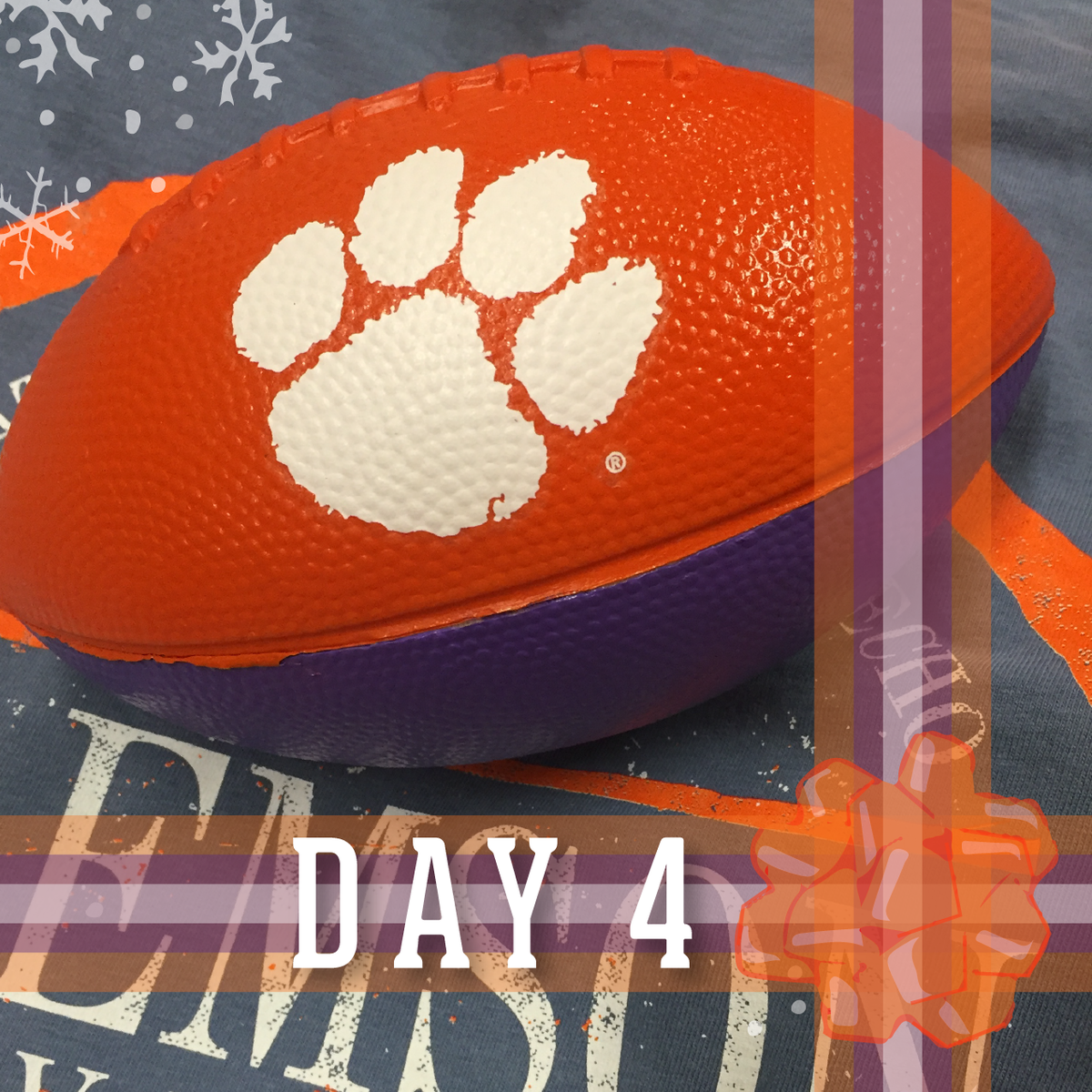 Our 4th 12 #DaysOfChristmas giveaway is here! Retweet for your chance to win this Clemson football #ClemsonChristmas https://t.co/KolxkT6gaw