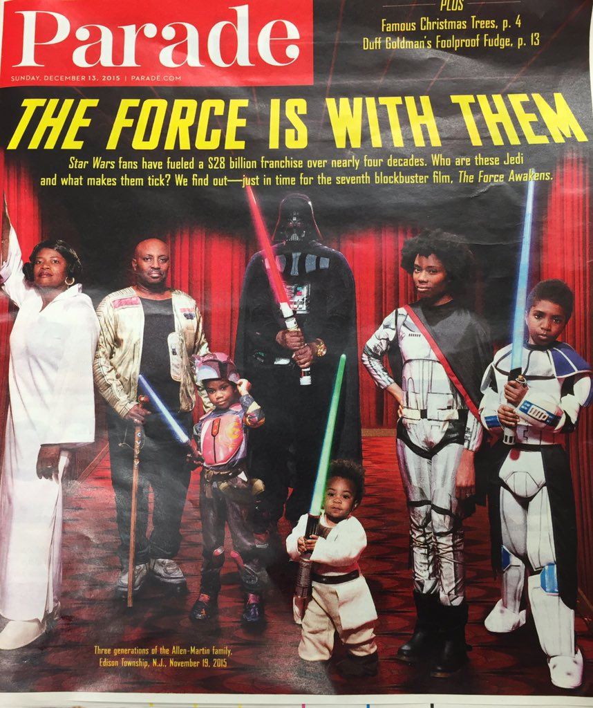 The force is strong in this family... @BlackGirlNerds @ParadeMagazine #TheForceAwakens #StarWars https://t.co/ZFkWp2zjSG