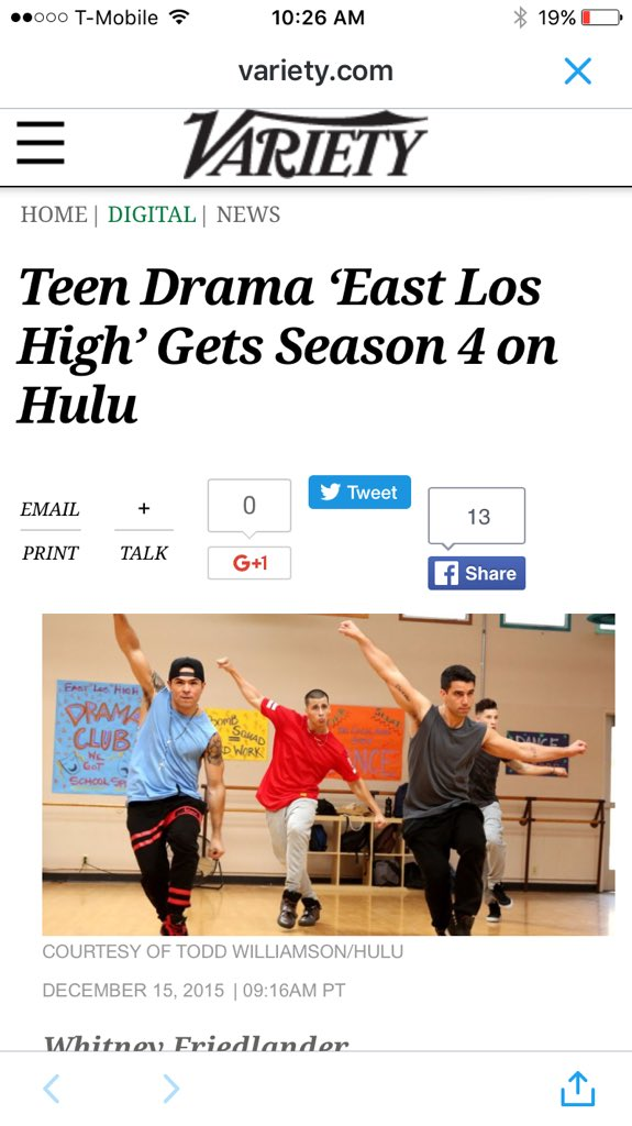 Congratulations to the whole @EastLosHighShow team for our Season4 renewal.!! It's on.! https://t.co/kuVtalbRlK