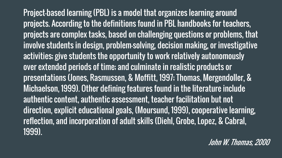 In preparation for tonight's #LINCchat, here is a detailed summary of what Project-Based Learning is: https://t.co/SoRz8pFj7B