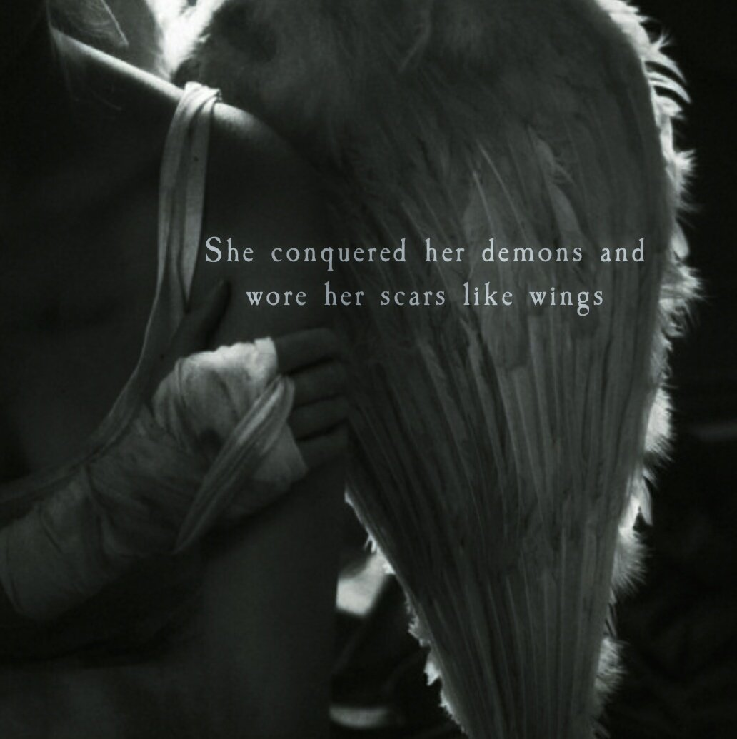 Image result for she conquered her demons atticus