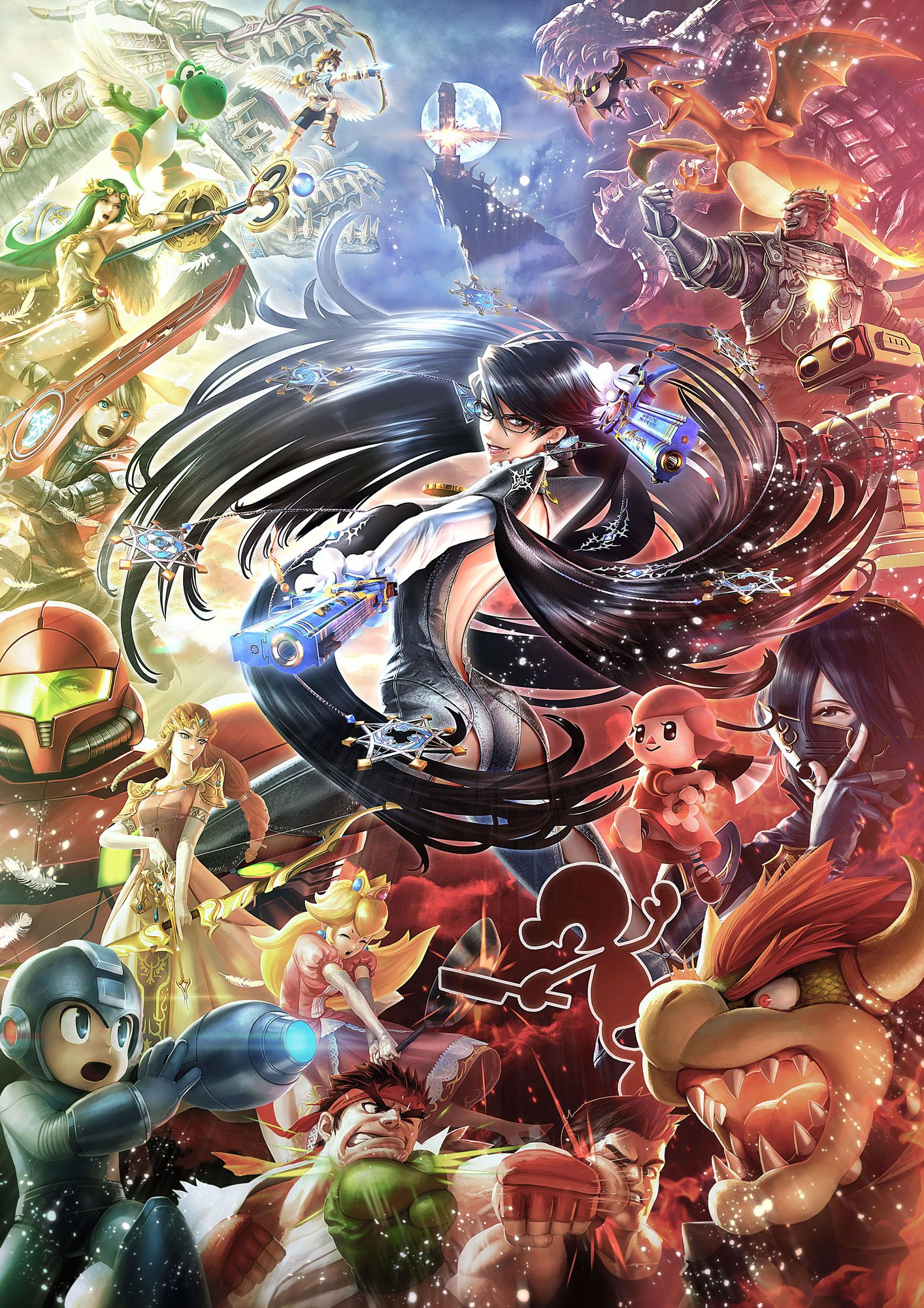 Bayonetta light vs. dark Super Smash Bros.