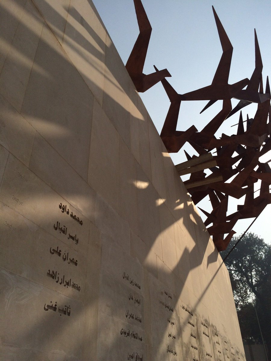 My partner Hydr was project architect (at Nayyar Ali Dada Associates) of the APS Memorial opening today. https://t.co/dmC34c2Kk1