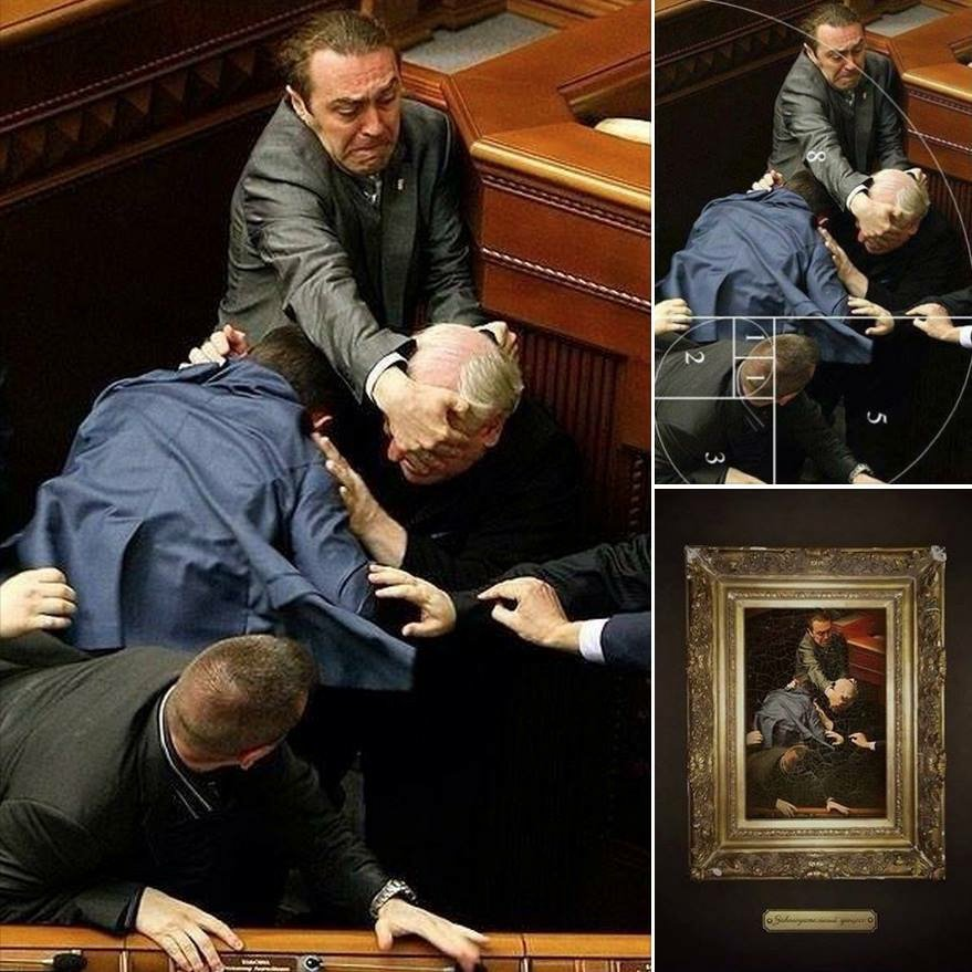 Caravaggio lives. An unseemly brawl in the Ukraine parliament - when photographed right - takes on a classical look https://t.co/xw5R6p8gjD