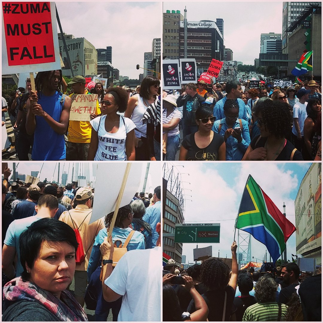 Thumbnail for South Africans demand President #ZumaMustFall