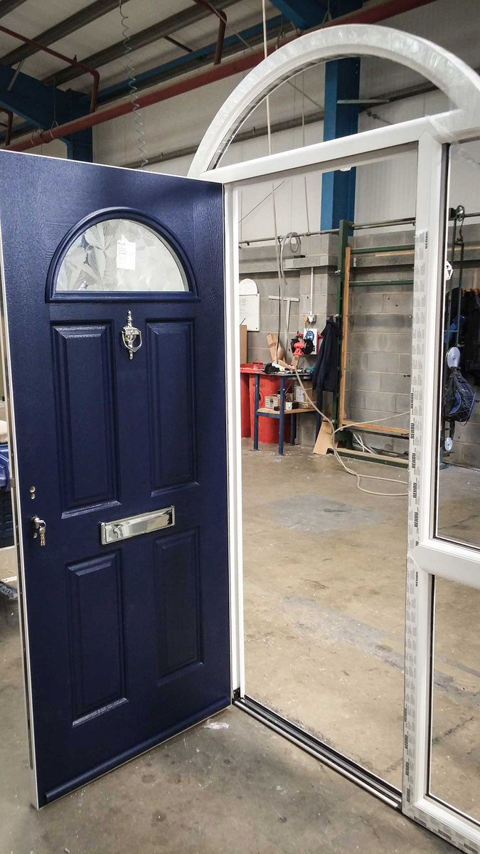 Endurance Doors on Twitter \ Check out this impressive @REHAUWindows arched frame with matching #solidandsecure Eiger door in French Navy. ... & Endurance Doors on Twitter: \