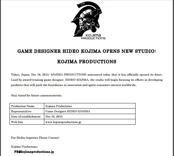 Sony To Publish Hideo Kojima's Next Title For PS4 & PC 3