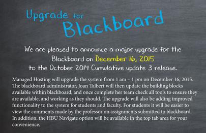 Hbu On Twitter Blackboard Getting An Upgrade Httpstcoyc1335jgmi