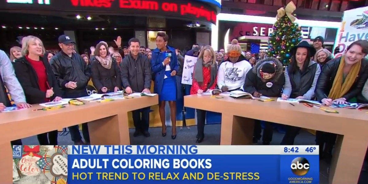 Good Morning America On Twitter Adult Coloring Books Theyre The New Trend For Relaxing And De Stressing Have You Would Buy One