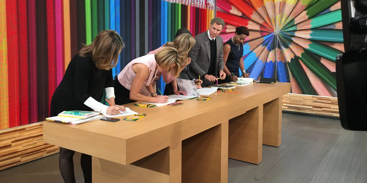 Good Morning America On Twitter Well Will Ferrell Is Coloring In An Adult Book So You Should As Tco VagNHlwB1n