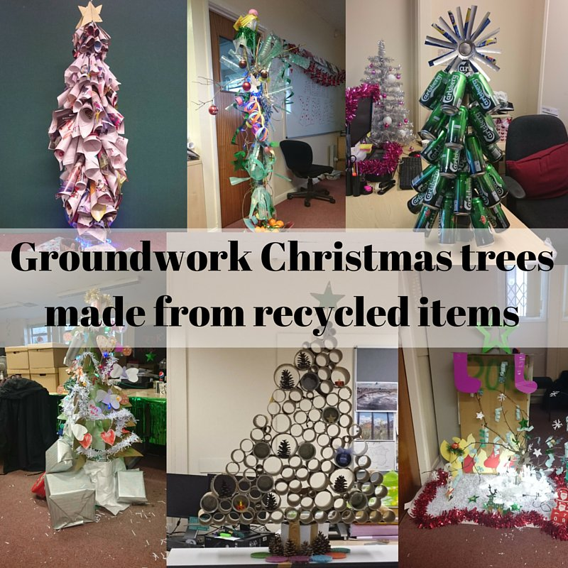 Christmas Tree Recycled Materials Big.Groundwork Wakefield On Twitter Entries For The Staff