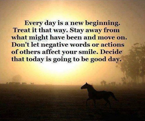 Every day is a new beginning.  Treat it that way. Stay away from what might have been and move on. Don't let... https://t.co/unKH9pnJII