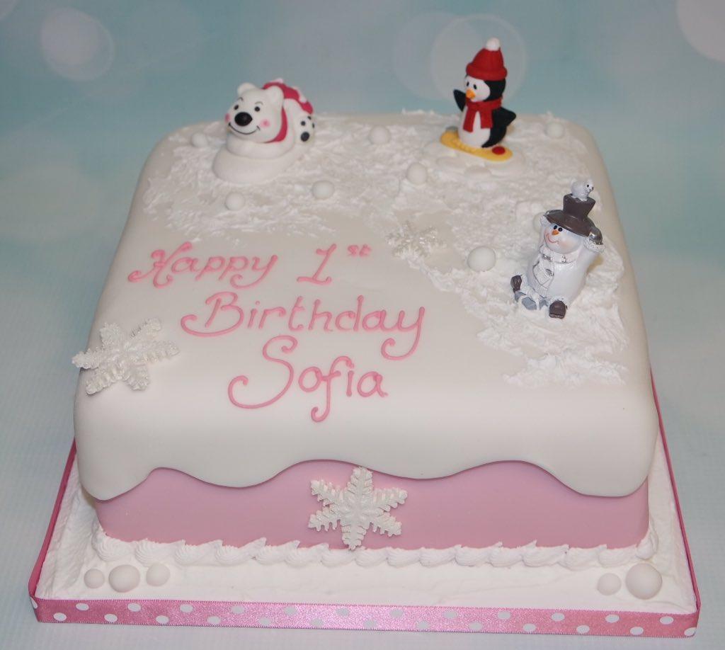 Awe Inspiring Crafty Cakes On Twitter Cute Winter Themed 1St Birthday Cake Funny Birthday Cards Online Elaedamsfinfo