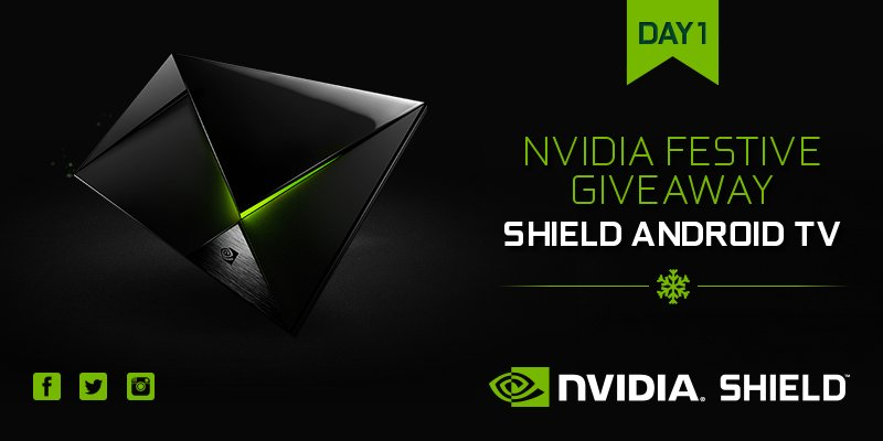 Day 1 of our Festive Giveaway! RT for a chance to win an @NVIDIASHIELD Android TV! https://t.co/26rvQOd49j