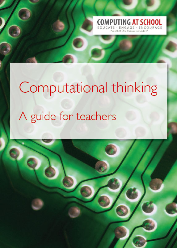 Guidance on computational thinking for primary and secondary pupils published by CAS.  https://t.co/34EaOFeNke  #cas https://t.co/B1XXTcBPn1