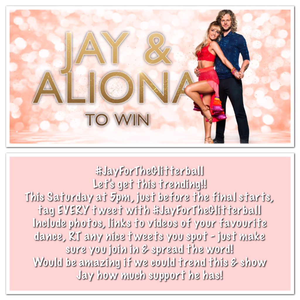 PLEASE read, RT and get involved to help us trend #JayForTheGlitterball this Saturday! We can do it.. & so can he!
