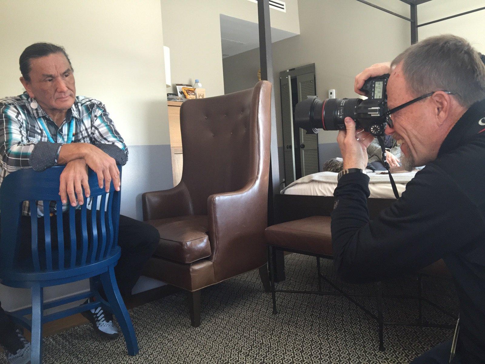 "@RevenantMovie check out #ElkDog @DuaneE_Howard posing for @latimesmovies photog ""Al""!! #RevenantMovie https://t.co/Gb8v7crfuI"