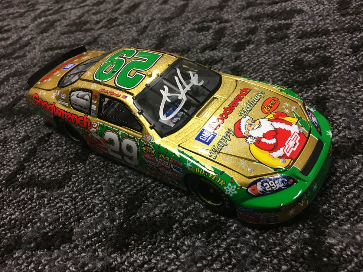 Retweet & follow me to win this #29 signed Happy Holidays diecast. Winner selected in 4 hours. #WinItWednesday