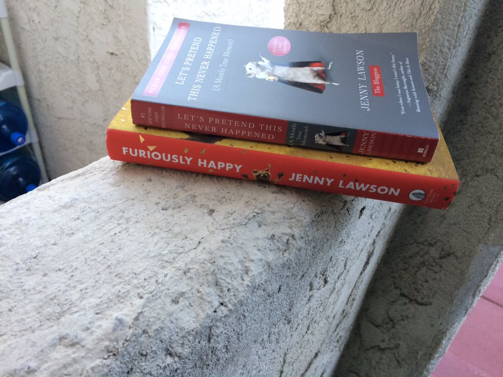 @TheBloggess Just stepped outside & found these on my porch! #RandomActsOfBloggess https://t.co/YDNl0CbMLE
